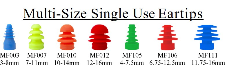 Multi-Size Single Use Eartips